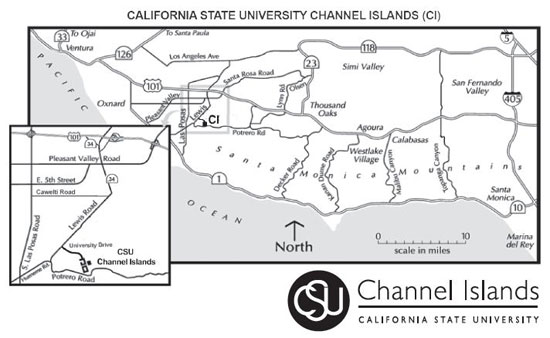 CSU Channel Islands driving directions map