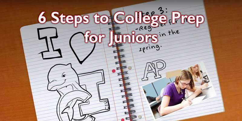 6 Steps for College Prep- High School Juniors