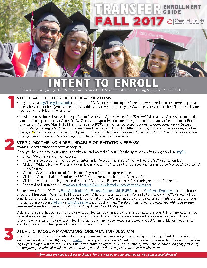Transfer Student Enrollment Guide