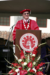 Picture of President Rush at Graduation Ceremony