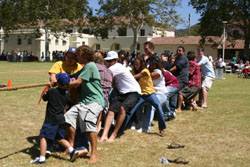 Tug of war in south quad