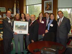 CSUCI President Richard Rush and past Assembly Member Fran Pavley join the delegation with alumni last spring