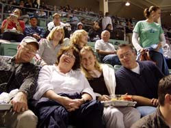 Photo of CSUCI alumni Chris Byhoffer '06 and family at a baseball game