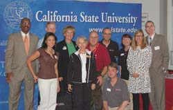 Photo of Alumna Monaliza Menor '04 and other CSU volunteers.