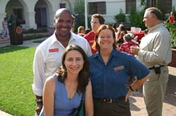 Photo of Vice President for Student Affairs Dr. Wm. Greg Sawyer, CSUCI English Professor Renny Christopher and Alumni & Friends Association President Yvette Bocz '02