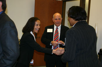 Persons at Alumni Networking Skills Reception 2006