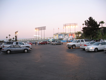 Dodger Stadium parking lot