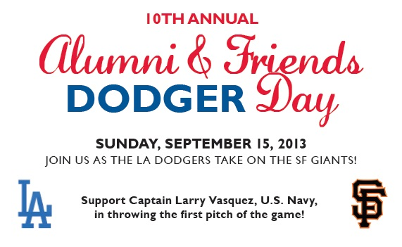 Dodger Day, Sunday September 15, 2013, Join us as the LA Dodgers take on the SF Giants.