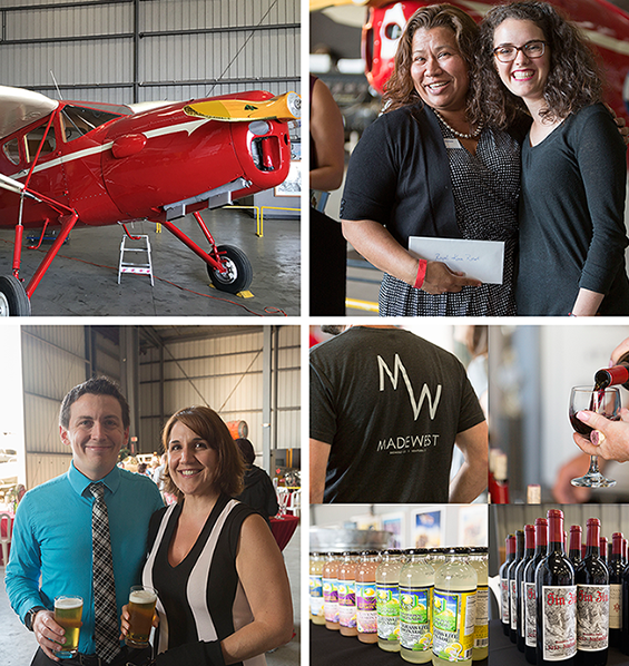 Happy hour at the hangar