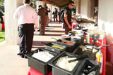 Outdoor buffet for event