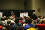 Puzder answers audience's questions