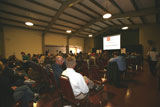 Audience gathers for speaker event