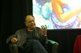 Cheech Marin describes a piece from personal Chicano Art collection.