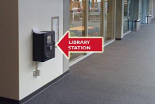 Broome Library station on 1st floor