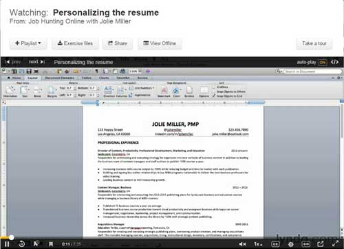 Creating a Personalized Resume