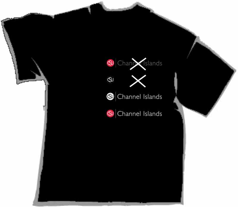Black shirt with logo examples