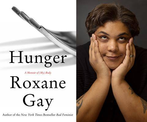 photo of author Roxane Gay and her memoir Hunger