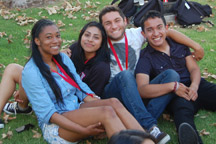 Photo of four smiling EOP students.