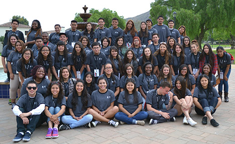 Photo of the 2014 EOP Summer Bridge students