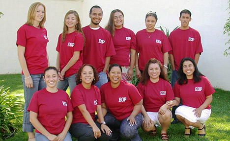 Group photo of the 2003 EOP students.
