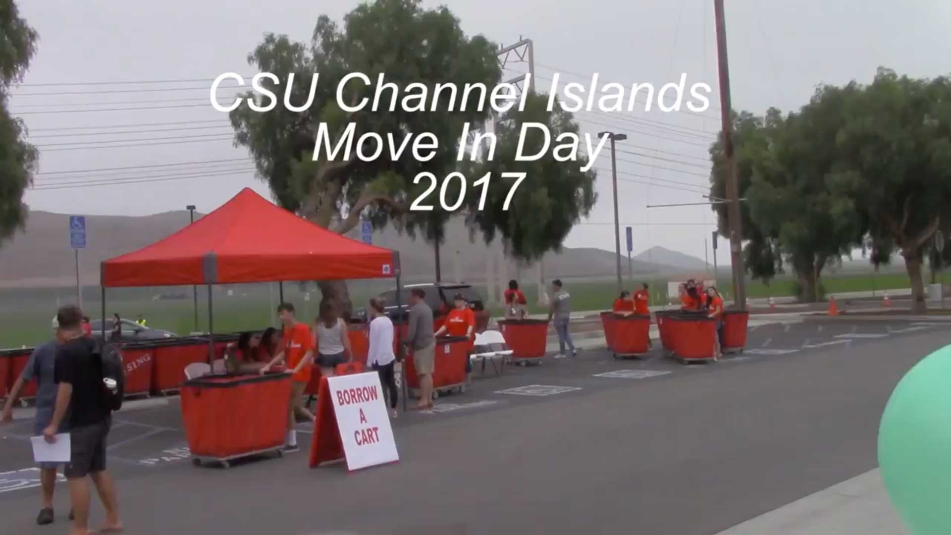 View Video: CSUCI Move In Day 2017