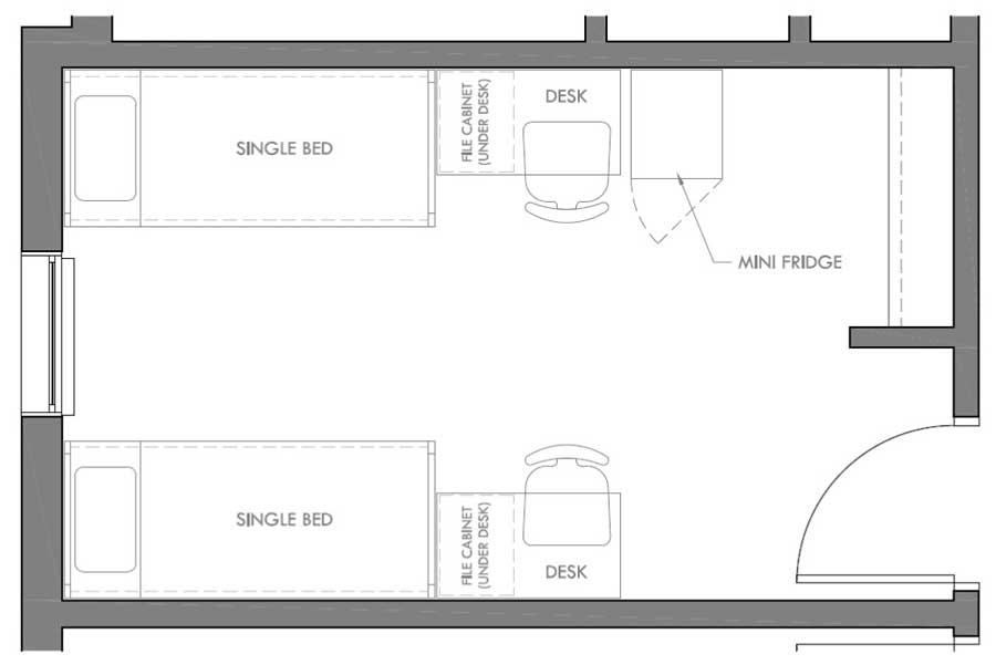 Santa Rosa Double Bedroom Layout ...