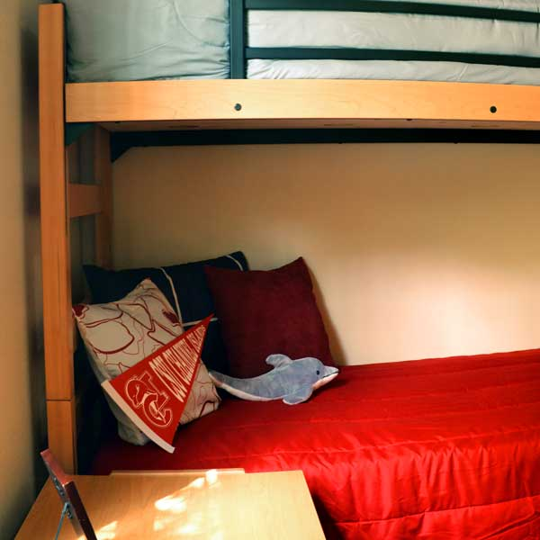 Double Bedroom - Bunked Beds & Closet Area
