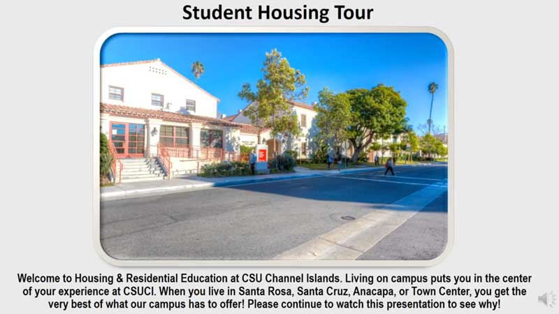 View Student Housing Tour