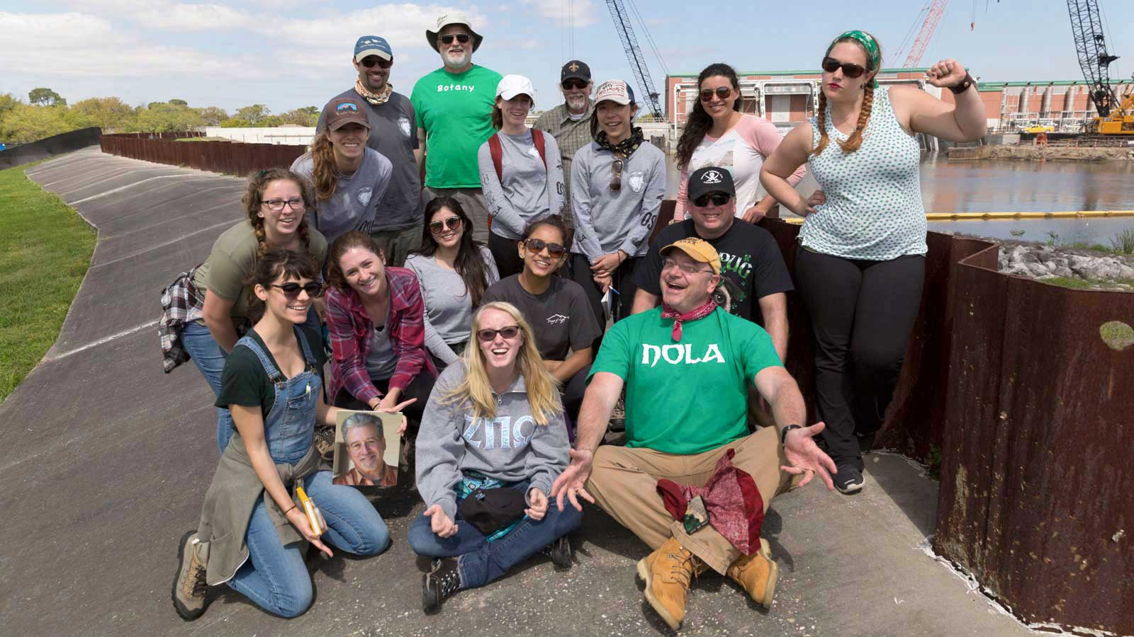 Prof. Sean Anderson took his Service Learing class to New Orleans over spring break