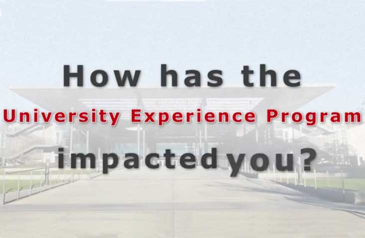 How has the University Experience Program impacted you?