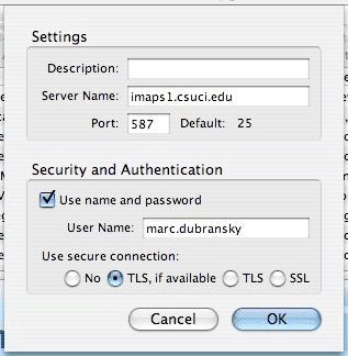 Screenshot of Settings window