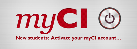 New students: Activate your myCI account