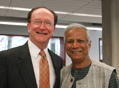 President Rush and Dr. Muhammad Yunus