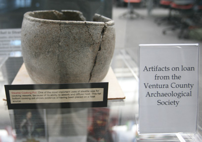 Artifact on display in Broome Library