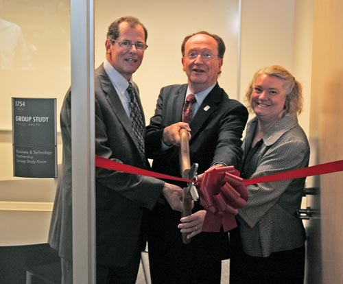 Chancellor, Rush and Wallace cut grand opening ribbon