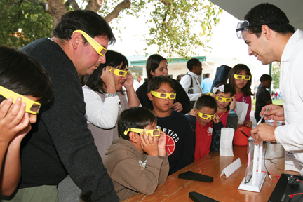 Ventura County K-8 school children learn from CI students at the CI Science Carnival.