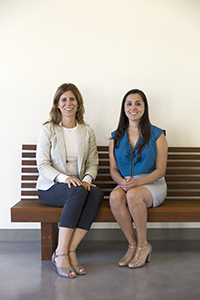 Carola Matera (left) and doctoral student Maricela Gonzalez