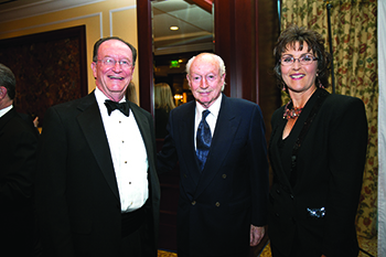 President Rush, John Notter, and Provost Gayle Hutchinson