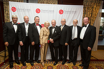 From left: George Leis, Bill Kearney, Steve Blois, Linda Dullam, Honorable Robert J. Lagomarsino, Mark Lisagor, Wayne Davey, and President Rush