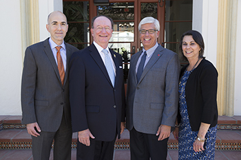 From left: Cary Rubinstein, President Rush, George Leis, and Felicia Sutherland.