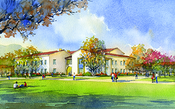 Architectural rendering of Sierra Hall courtesy of CO Architects