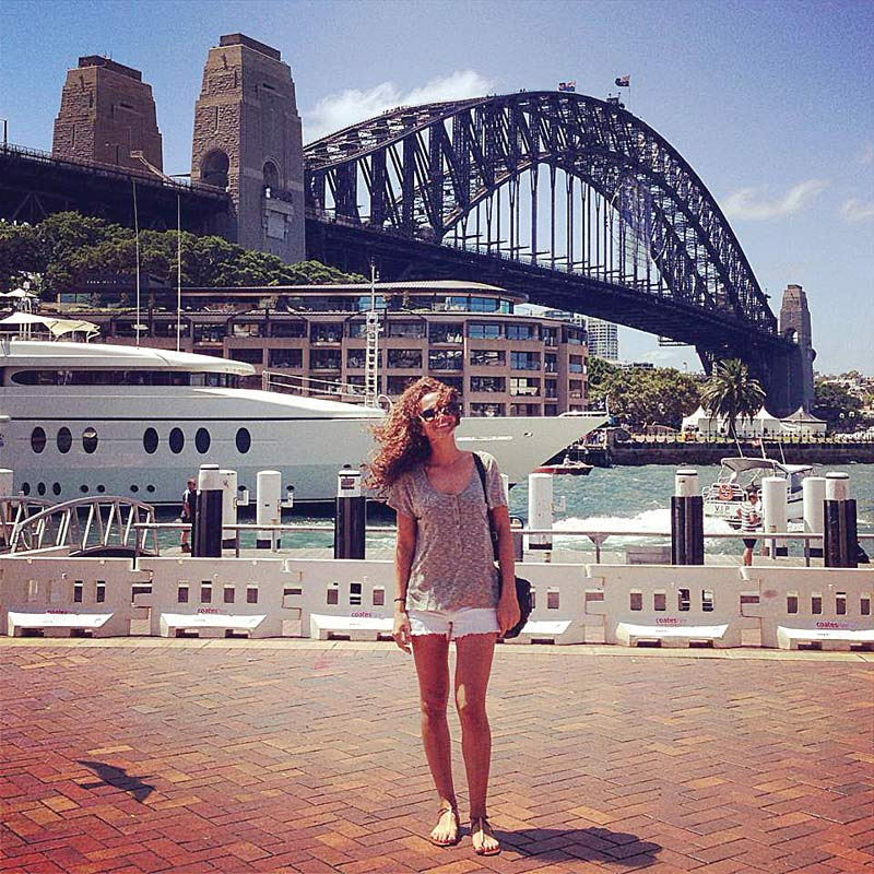 Allison Clayton in Australia