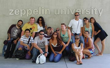 CI students visit Zeppelin University in Germany