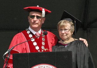 President Rush and Joanne Coville