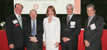 President Rush, Henry Dubroff, Laurie Eberst, George Leis and Rick Principe