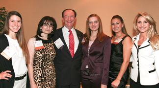 President Rush with B&TP Scholarship recipients