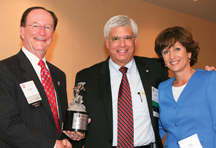 President Rush, Honoree George S. Leis and Tracy Lehr
