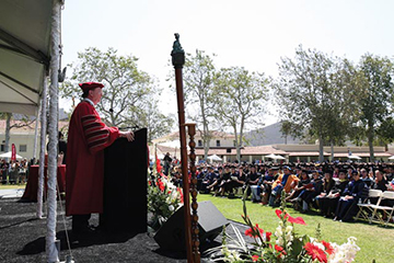 President Rush addresses commencement