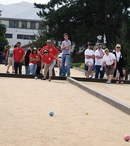 Bocce Ball team at Corporate Games