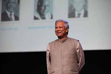 Dr. Muhammad Yunus speaks at One Young World in 2011
